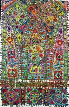 Art In Stitches: New Work and a three day trip!  Windows XII, fibre art by Susan Lenz