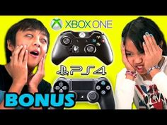 FineBros:Kids react to Xbox One versus Playstation 4(Bonus)