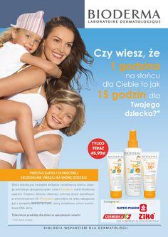 Reklama prasowa dla marki Bioderma.