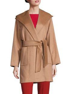 MAX MARA Rialto Short Camel Hair Coat. #maxmara #cloth #coat