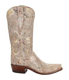 Lucchese Neomi Stitch Python-Print Boots   Dillards.com