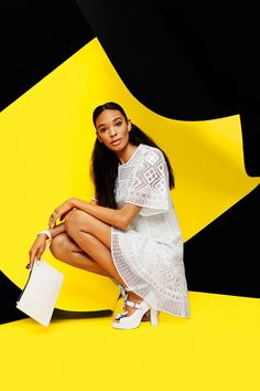 The Anti-Bride Guide To Wedding-Day Style #refinery29  http://www.refinery29.com/unique-bridal-outfits#slide-7  If you fancy yourself a party girl, then dress the part. Skip the ball gown, wear lace all over, and add chunky heels.Chloe Sevigny for Opening Ceremony shoes, Emm Kuo pouch, and Iosselliani ring.