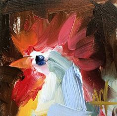 Rooster no. 4 Original Oil Painting by Angela Moulton pre-order