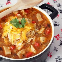 Tex-Mex Chicken & Rice Soup Recipe - ZipList