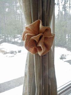 Burlap Curtain Tie Back