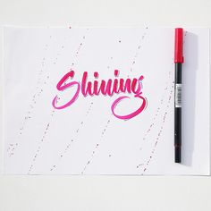 Shining! ✏️✨✏️ ———————————————————— #brush #brushlettering #illustrationoftheday #dailytype #lettering #handmadewithlove #handmadefont #hellotype #type #typewriter #goodtype #typography #logotype #calligraphy #calligraffiti #graffiti #flingern #düsseldorf #lettering #letterwriting #freehand #handfont #handtype #hellofont #customlettering #fontoftheday #fontlettering #type #typo #typelover #typejunkie #typografie