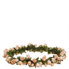 Coroa de flores Little Rose salmão