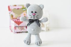 cat amigurumi pattern Gato Crochet, Bunny Crochet, Crochet Cat Toys, Crochet Amigurumi Free Patterns, Crochet Animals, Amigurumi Tutorial, Tutorial Crochet, Free Crochet, Cat Construction