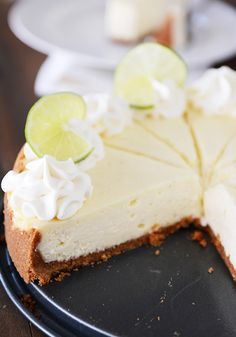 Amazing Key Lime Cheesecake {Plus a Foolproof & Easy Method to Avoid Cracking} | Mel's Kitchen Cafe