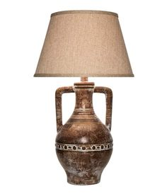 Desert Collection Lamp 670SR Western Lamps - From our Made in the USA Desert Collection. Double handle urn style in dark stone hand finish.