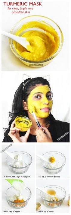 DIY: tumeric mask for clear bright & acne-free skin #do it yourself #beauty