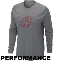 Nike Washington State Cougars Speed Fly Long Sleeve Performance T-Shirt #GoCougs