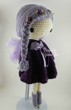 ATTENTION - Keep in mind that this is a crochet pattern in a PDF. This is NOT the finished product. Fairy Lola is approximately 17 inches tall. Also, please keep in mind that this doll cannot stand up on its own. This is a non-refundable purchase. Once the payment has been confirmed