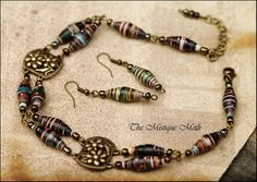 Recycled Paper Bead Jewelry by Horse Wing, via Flickr