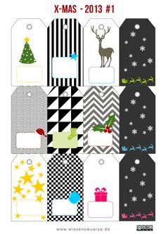 Geschenkeanhänger Weihnachten 2013 no 1