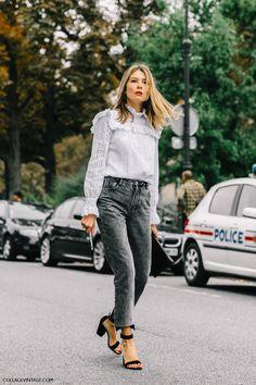 victorian blouse, cropped jeans, викторианская блузка