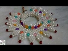 How to Make Pearl Beaded Choker Necklace Diy Choker, Beaded Choker Necklace, Diy Necklace, Diy Earrings, Necklaces, Beaded Necklace Patterns, Handmade Jewelry Designs, Bead Patterns, Bracelet Crafts