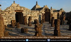 The imposing Surang Tila stands in the middle of the modern village of Sirpur. #ExploreChhattisgarh