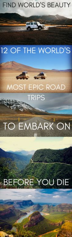 12 of the world's most epic road trips to embark on before you die – Find World's Beauty