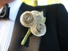 paper buttonhole - quirky alternative
