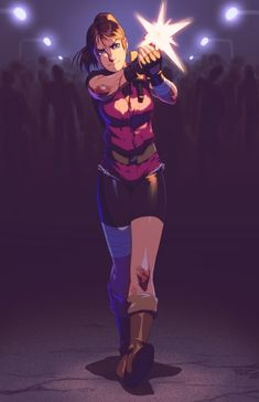 robscorner:MISSING: Claire Redfield -Colored Sketchcommission forofClaire Redfield.