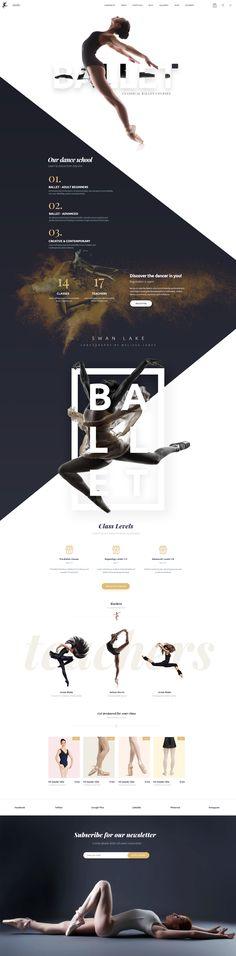 WEB SITE DESIGN Ballet - Superhero https://www.behance.net/gallery/58163057/Ballet-Superhero #WEBDESIGN #WEBSITE #WEBDESIGNER