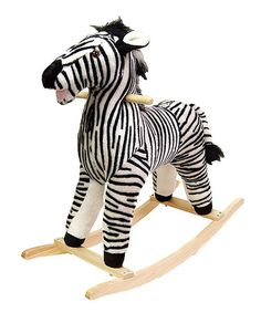 Happy Trails Zebra Plush Rocking Animal: This lovable, cuddly zebra will be a sure hit with any child. Happy Trails, Plush Rocking Horse, Rocking Horses, Wooden Rocker, Pet Rocks, Ride On Toys, Zebras, Future Baby, Baby Toys