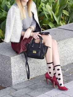 socks and heels...maybe someday I should try this.