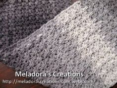 ▶ Mesh Stitch Scarf - Crochet Tutorial - Great Mens Scarf - YouTube