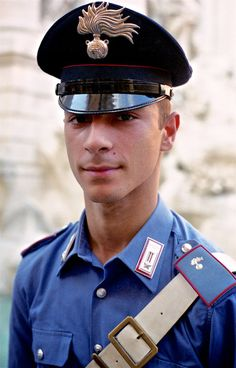 Carabinieri Officer | At the Trevi Fountain, Rome. John Elmslie 1999.
