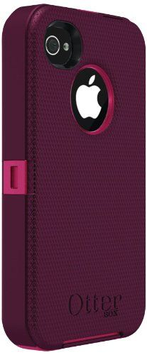 Otterbox Defender Series for iPhone 4  4S - 1 Pack - Retail Packaging - Peony Pink/Deep Plum - The OtterBox Defender Series case provides the ultimate protection for your iPhone 4S. Enclose your device in the highest quality, toughest case avail