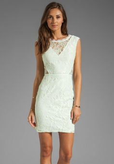Dolce Vita White Dv By Trouble Neon Lace Dress in White