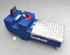 Hilarious!!Facebook-Inspired Bed To Be Constantly Online