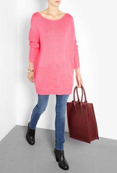 Shore Cotton Zip-Back Knit Dress by Acne