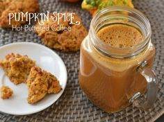 Pumpkin Spice Hot Buttered Coffee                                      Leave out Stevia to make it 21DSD friendly Buttered Coffee, Low Carb Drinks, Pumpkin Puree, Pumpkin Butter, Pumpkin Spice, Hot Coffee, Coffee Drinks, Coffee Time, Coffee Cups