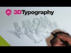 3D typography // 'HIGH&LOW' // speed-drawing // lex wilson