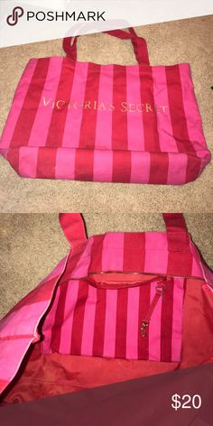 Victoria Secret over night bag Perfect over night bag. Inside has a zipper pocket for smaller items Bags Totes