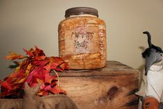 All Wrapped UpMummy's Treats JarPrimitive by Pleasantvalleyprims, $24.99
