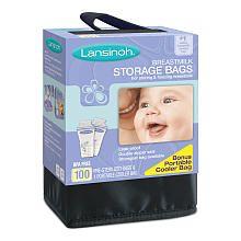Lansinoh 100-Ct Storage Bags with Cooler