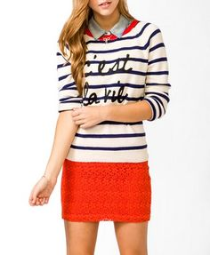 $25 sweater available on forever21.com (collar not T4)
