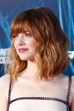 Emma Stone long bob haircut