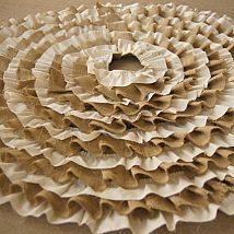 Recycled Burlap and Muslin Ruffle Tree Skirt