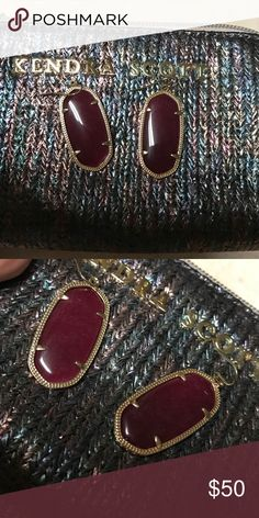 Kendra Scott Elle red earrings Excellent condition, used only three times Kendra Scott Jewelry Earrings