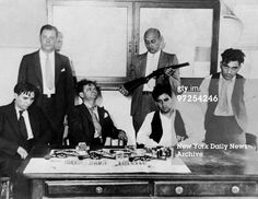 Harry Strauss Martin Goldstein Abe Reles and Harry Maione being...
