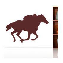 Sticker cheval galop