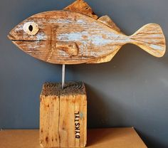 Driftwood art fish