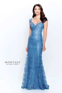Montage Off the shoulder allover novelty lace and sequin gown, V-neckline and back, natural waistline, fit and flare skirt with sweep train. Montage By Mon Cheri, Mothers Dresses, Bride Dresses, Special Dresses, Lace Dresses, Trumpet Dress, Wedding Attire, Gown Wedding, Wedding Blog