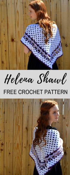 Combine classic grannies with modern lace for this beautiful FREE crochet pattern, Helena Shawl!