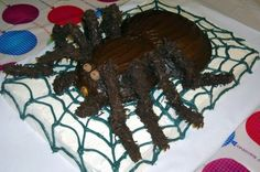 Tarantula Birthday Cake  http://www.cakedecoratingideasfree.com/tarantula-birthday-cake#