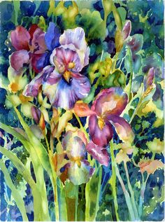 Iris II Painting by Ann Nicholson - Iris II Fine Art Prints and Posters for Sale